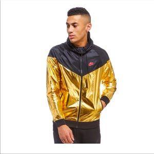 Nike Sportswear Windrunner hoody Jacket black gold